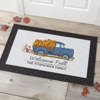 Classic Fall Vintage Truck 20-Inch x 35-Inch Doormat