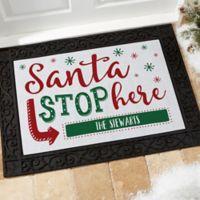 Santa Stop Here 18-Inch x 27-Inch Doormat