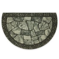 "Mohawk Home® Tuscany Greystone 23"" x 35"" Slice Door Mat in Grey/Black"