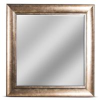 Hartley 23-Inch Square Beveled Wall Mirror in Bronze