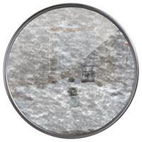 Vintage Antique 31-Inch Framed Round Wall Mirror