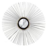 32-Inch x 32-Inch Starburst Round Wall Mirror in Silver