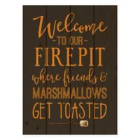 "Designs Direct ""Welcome to Our Firepit"" Pallet Wood Wall Art"