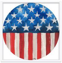 Artistic American Flag 19.5-Inch Square Shadow Box
