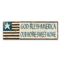 """God Bless America"" 36-Inch x 12-Inch Canvas Wall Art"