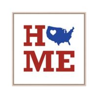Home U.S. Map 19-Inch Square Canvas Wall Art