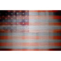 Marmont Hill White Light Stripes 18-Inch x 12-Inch Aluminum Wall Art