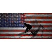 Marmont Hill Surfing Stripes 60-Inch x 30-Inch Aluminum Wall Art