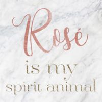 "Oliver Gal™ ""Rose is my Spirit Animal"" 12-Inch Square Canvas Wall Art"