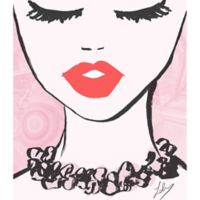 Oliver Gal™ Classy Lips 13-Inch x 16-Inch Canvas Wall Art in Pink