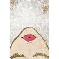Oliver Gal™ Glitter Coveted Girl 10-Inch x 15-Inch Canvas Wall Art in Gold