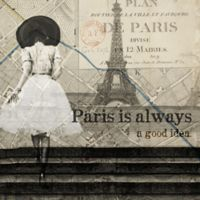 Oliver Gal™ Paris is Always a Good Idea 43-Inch Square Canvas Wall Art in Tan