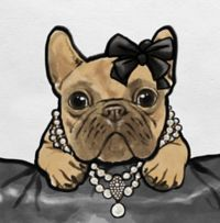 Oliver Gal™ Glam Frenchie 16-Inch Square Canvas Wall Art in Tan