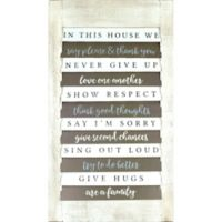 """Shutter """"In this House"""" 32-Inch x 18-Inch Wood Wall Art"""