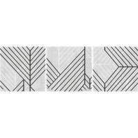 Marmont Hill 3-Piece Diametric V 72-Inch x 24-Inch Canvas Wall Art Set