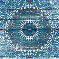 Marmont Hill Morrocan Blue 32-Inch x 32-Inch White Wood Wall Art