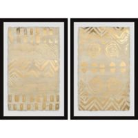 Marmont Hill 2-Piece Pattern Bazaar II 32-Inch x 24-Inch Framed Wall Art Set