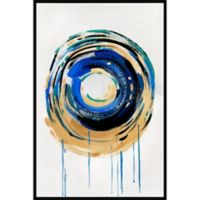 Marmont Hill Spherical Gold Ring 16-Inch x 24-Inch Floater Framed Canvas Wall Art