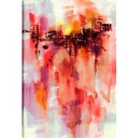 Red Abstract 36-Inch x 24-Inch Canvas Wall Art