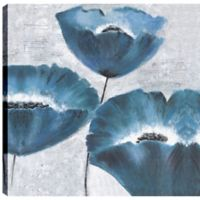 Blue Florals I 24-Inch Square Canvas Wall Art