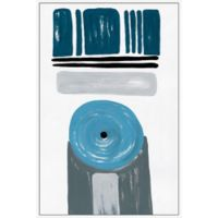 Marmont Hill Blue Target 16-Inch x 24-Inch Floater Framed Canvas Wall Art