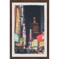 Marmont Hill Times Square Abstract 12-Inch x 18-Inch Framed Wall Art
