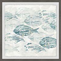 Marmont Hill Sealife Batik II 24-Inch Squared Framed Wall Art