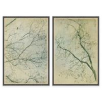 Marmont Hill 2-Piece Tree Branches 24-Inch x 18-Inch Floater Framed Canvas Wall Art Set