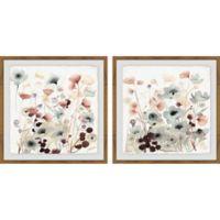 Marmont Hill 2-Piece Blooming Garden II 24-Inch x 12-Inch Framed Wall Art Set