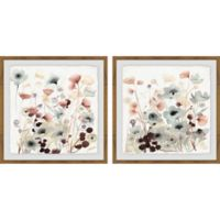 Marmont Hill 2-Piece Blooming Garden II 36-Inch x 18-Inch Framed Wall Art Set