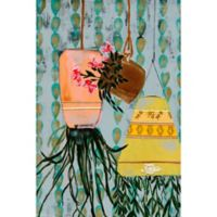 Marmont Hill Hanging Pots 24-Inch x 36-Inch Canvas Wall Art