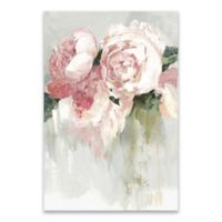 Peonies Hand Embellished 24-Inch x 36-Inch Canvas Wall Art