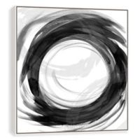 Dissolve II Framed Hand Embellished 31-Inch Square Canvas Wall Art