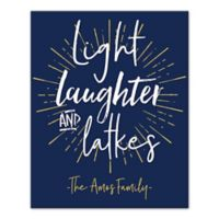 """Designs Direct """"Light Laughter and Latkes"""" 16-Inch x 20-Inch Canvas Wall Art"""