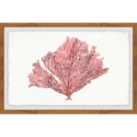 Marmont Hill Pink Rose Embossed 18-Inch x 12-Inch Framed Wall Art