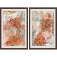 Marmont Hill 2-Piece Stained Marble 24-Inch x 18-Inch Framed Wall Art Set