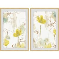 Marmont Hill 2-Piece Summer Flower 24-Inch x 18-Inch Framed Wall Art Set