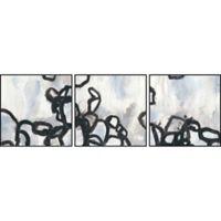 Marmont Hill 3-Piece Causal Gesture V 72-Inch x 24-Inch Floater Framed Canvas Wall Art Set
