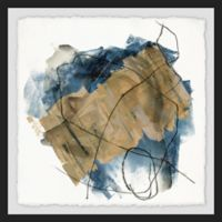Marmont Hill Blue Crew II 18-Inch Squared Framed Wall Art