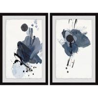 Marmont Hill 2-Piece Dark Strokes 32-Inch x 24-Inch Framed Wall Art Set