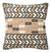 Safavieh Carnie Square Throw Pillow in Charcoal