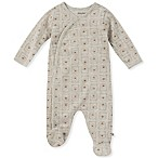 Absorba Size 0-3M Brown Bear Footie in Oatmeal