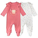 Newborn 2-Pack Owl Long Sleeve Footies