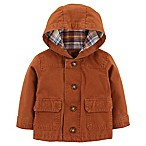 carter's® Size 3M Button-Front Canvas Jacket in Brown