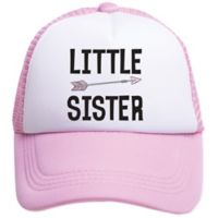 Tiny Trucker Toddler Little Sister Trucker Hat in Pink/White
