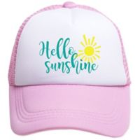 Tiny Trucker Infant Hello Sunshine Trucker Hat in Pink/White