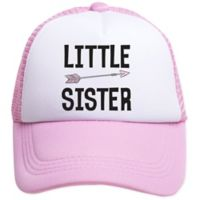 Tiny Trucker Infant Little Sister Trucker Hat in Pink/White