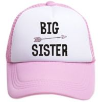 Tiny Trucker Toddler Big Sister Trucker Hat in Pink/White