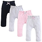 Touched by Nature Size 3-6M 4-Pack Organic Cotton Harem Pants in Pink