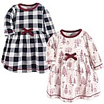 Touched by Nature® Size 3-6M 2-Pack Winter Woodland Dresses in Red